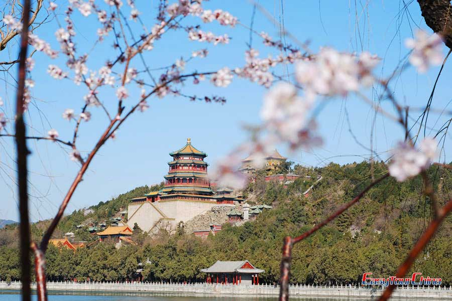 Summer Palace in spring when the flower area in full bloom