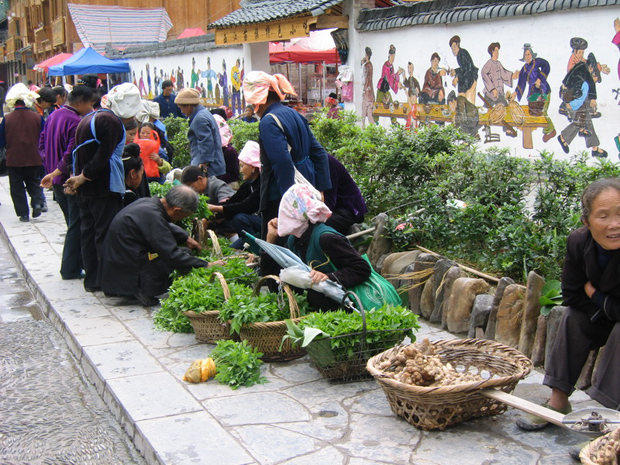 Sunday Market Selling Vegetable