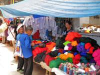 Sunday Market Buying Clothes