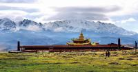 Buddhist Monastery & Snow Mountain