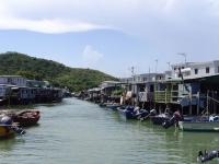 Tai O Village Houses Built on River