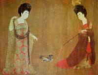 Tang Dynasty Painting of Figures of Lady