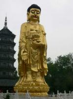 Temple of Bliss Huge Golden Buddha Statue