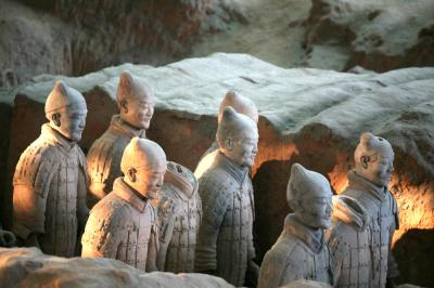 Terra Cotta Warriors and Horses in the Sunshine