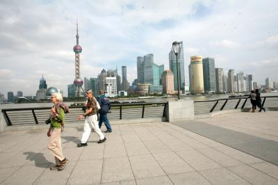 Walking in the Bund
