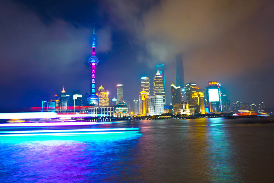 Enjoy the Night of Huangpu River