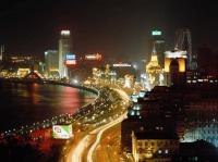 The Bund Shanghai Night Outline