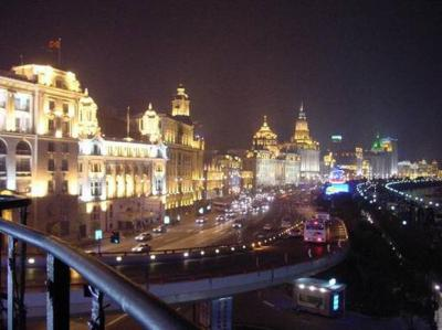The Bund of Shanghai at night