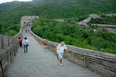 Hiking on the Great Wall in Beijing
