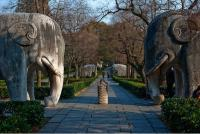 The Ming Tomb in Nanjing Stone Elephants