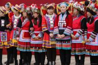 Yao ethnic girls in festival clothes