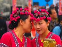 Beautiful Yao girls in Panwang Festival