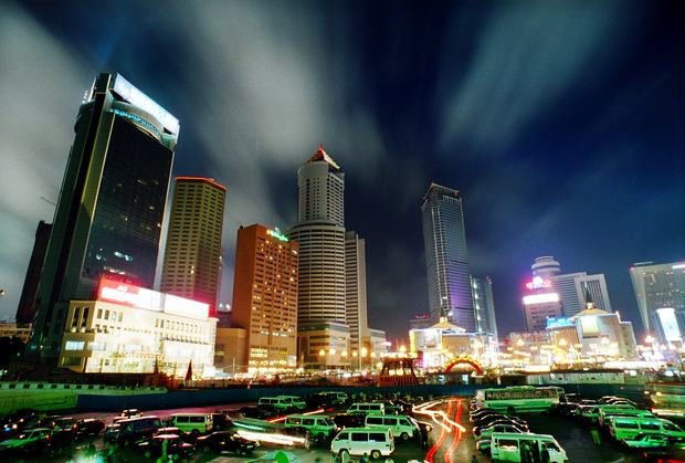 The Squares in Dalian Night View