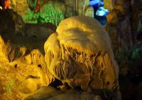 Thien Cung Cave limestone formations