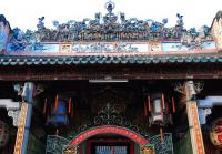 Thien Hau Temple elaberate roof