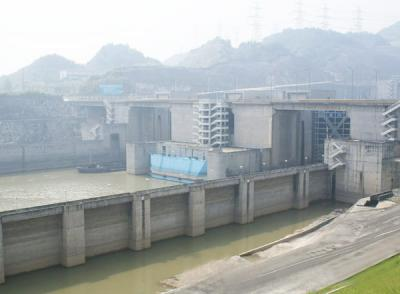 A Glimpse of  Three Gorges Dam