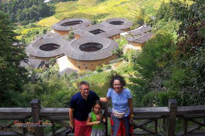 Family Visit Tianluokeng Tulou Cluster