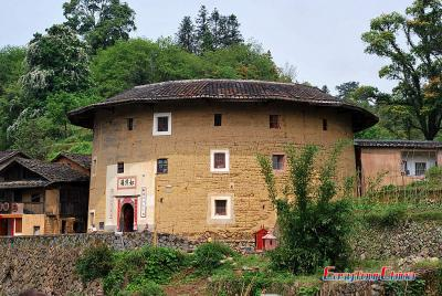 Exterior View of Tianluokeng Tulou Tower