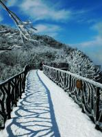 Tianmen Mountain Plank Road in Snow