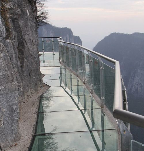 Glass Pavement Tianmen Mountain