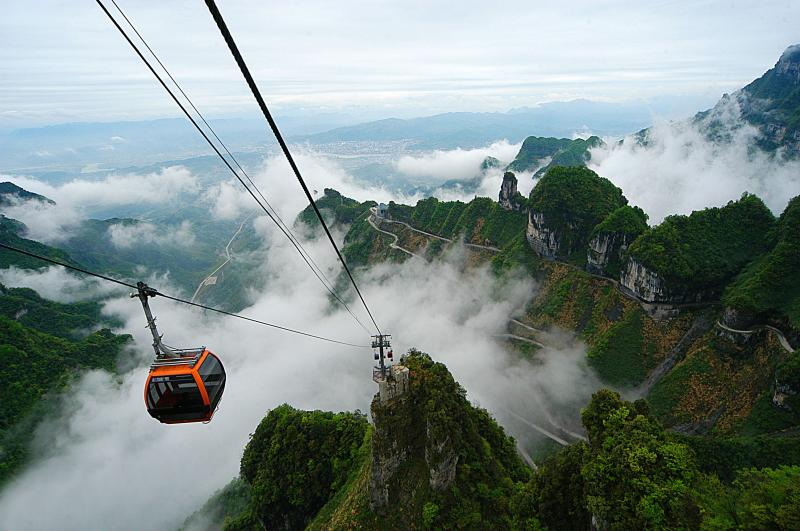 cable car of Tianmen Mountain National Forest Park