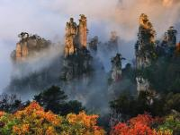 Tianzi Mountain in Autumn
