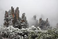 Tianzi Mountain of Zhangjiajie in Winter