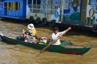 Canoeing on Tonle Sap Lake
