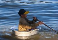 Child living by Tonle Sap Lake