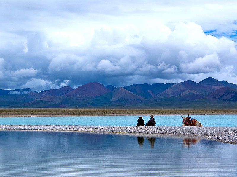 Holy Lake in Tibet