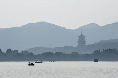 Boating on West Lake Hangzhou