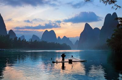 Guilin Li River Sunset