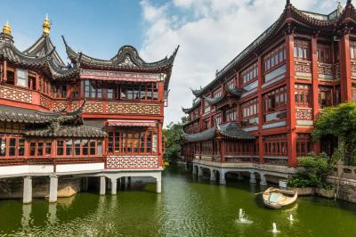 The beautiful architectures at Yu Market Shanghai