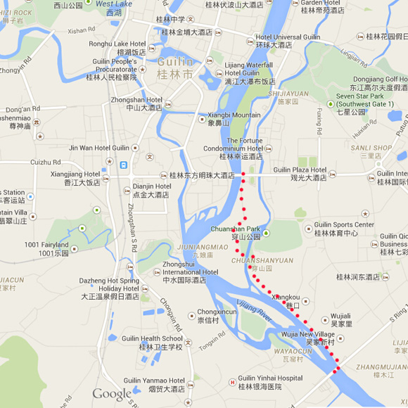 Guilin cycling maps in English