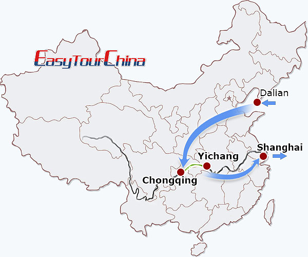 r9-day Dalian-Yangtze Cruise-Shanghai Excursion