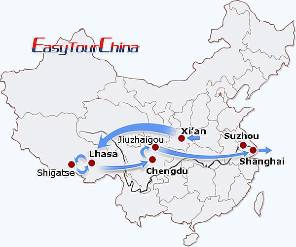 how to get to jiuzhaigou from xian