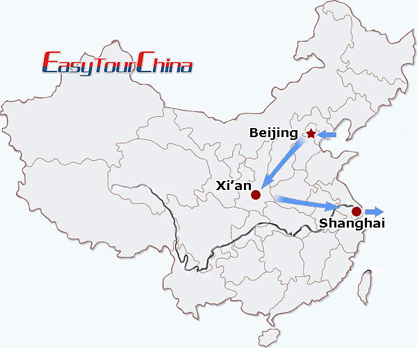 r8-day China Golden Triangle Tour to Beijing, Xi'an & Shanghai