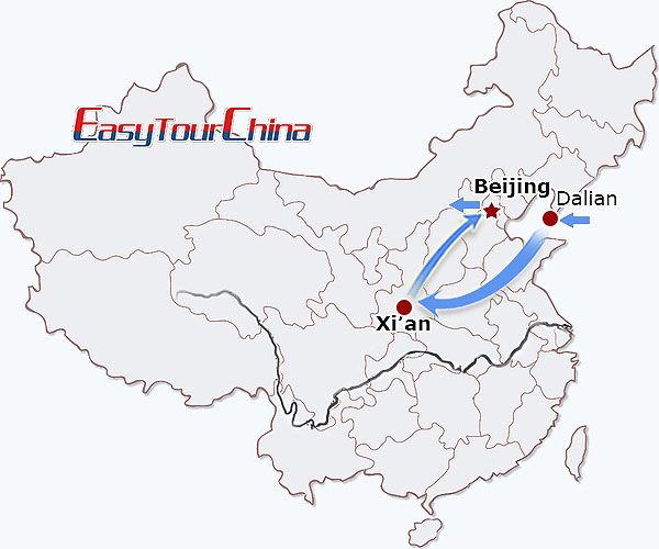 r8-day Dalian-Xian-Beijing Exploration