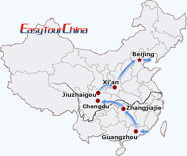 China travel map - Scenic & Historic China