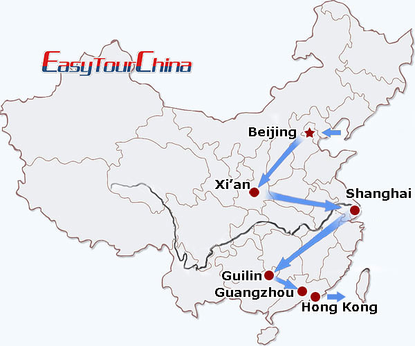 China travel map - China Culinary Tour