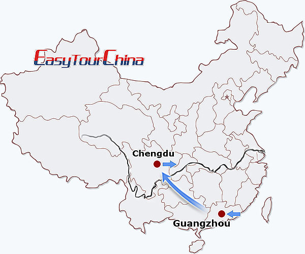 5 days guangzhou chengdu tour holiday break from guangzhou to map gumiabroncs Image collections