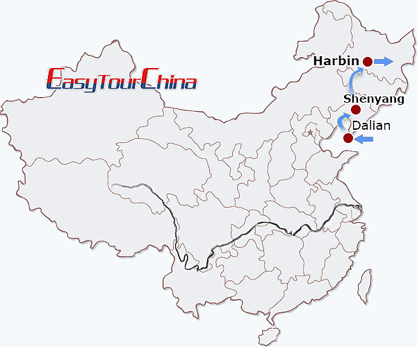 8 days northeast china winter discovery china harbin tour 20182019 map gumiabroncs Images