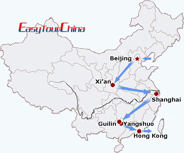 China travel map - Highlights of China Tour for Families with Kids