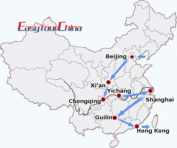 r16-day China Impression with Yangtze Cruise