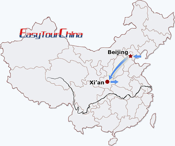 5 days beijing xian tour holiday from beijing to xian beijing xi Beijing China MapQuest map