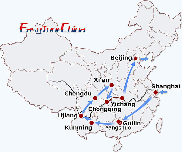 22 day wonders of china tour yangtze river cruise li river cruise Beijing Air Pollution Map map