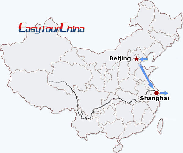 China travel map - China Premier Tour (best for business travelers)