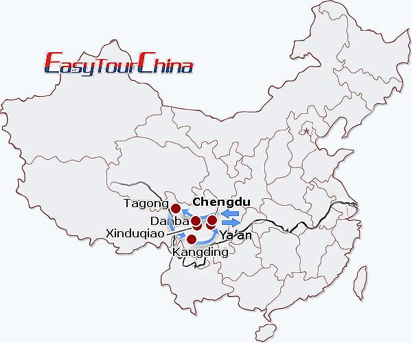 Resultado de imagem para Ya'an a Kangding