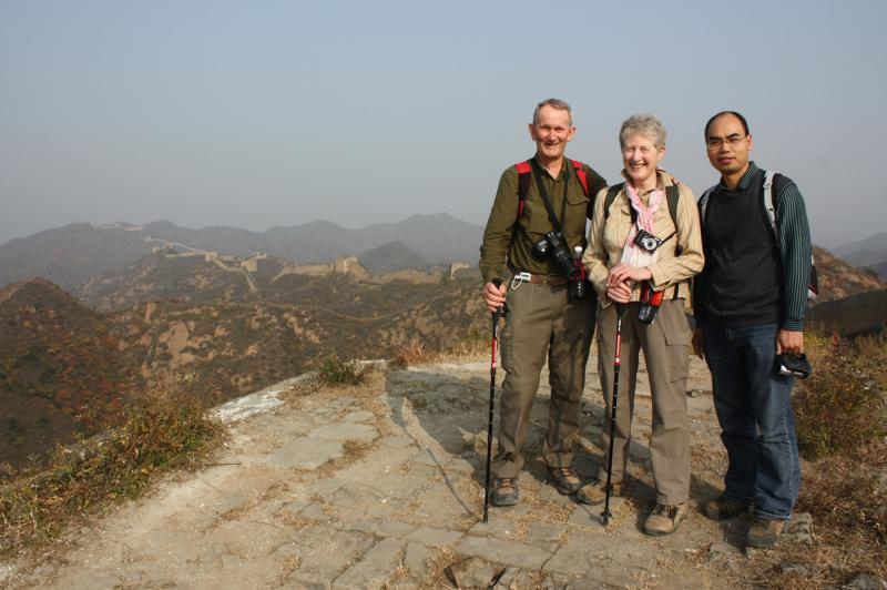 Clients and Charlie Hike on Great Wall China