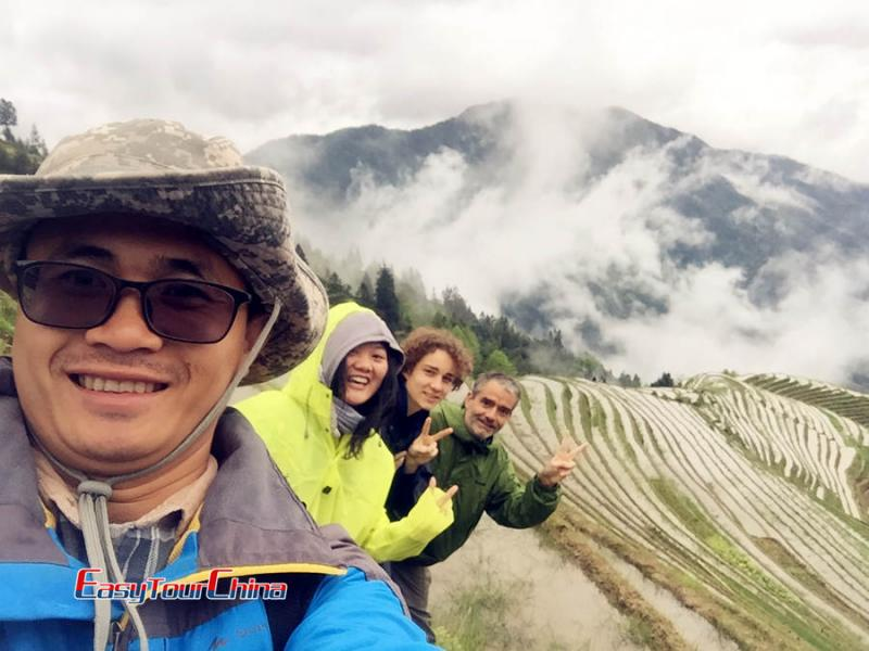 French Customers' Longji Rice Terraces Hiking Tour in 2017